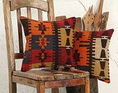 "hand woven vintage kilim pillow cover - 15.75"" x 15.75"" - free shipment with UPS - 02384-59"