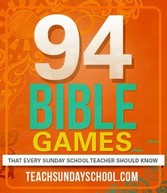 94 Bible Games!  Easy, fun, and the kids actually learn something.  Great for Sunday School.