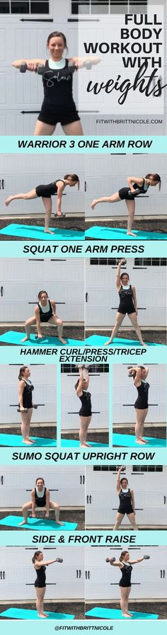 Trendy free weight workouts for women fat burning full body Best Full Body Workout, Best Shoulder Workout, Full Body Dumbbell Workout, Shoulder Exercises, Leg Exercises, Weight Exercises, Free Weight Workout, Weight Lifting Workouts, Weight Training