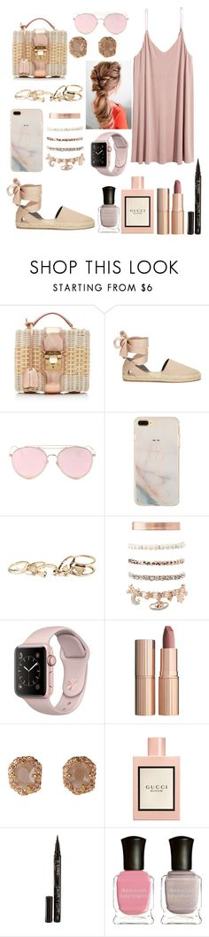 """P!NK"" by lina18neko ❤ liked on Polyvore featuring Mark Cross, Rebecca Minkoff, LMNT, GUESS, Charlotte Russe, Charlotte Tilbury, Gucci, Smith & Cult and Deborah Lippmann"