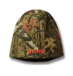 Adult reversible STIHL stocking cap / beanieMossy Oak camouflage on one side and…