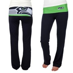 Seattle Seahawks Ladies Sublime Knit Pants - Navy Blue