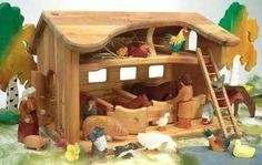Kinderkram Horse Barn - Kinderkram Stable - 50111 - Pferdestal - Blueberry Forest Toys