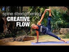Spine Strengthening Creative Flow Yoga Class - Five Parks Yoga - YouTube
