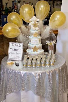 Twinkle Little Star Baby Shower Party Ideas | Photo 4 of 21