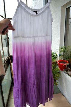 Kísérlet – Színátmenetes nyári ruha merítéses festéssel