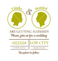 Wedding invitation card vector on VectorStock®