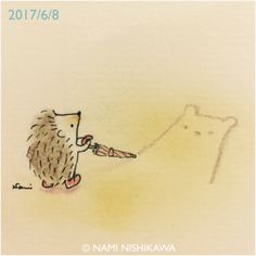 1201 雨上がり、お絵かき drawing on the ground after a rain