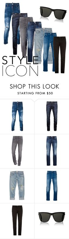 """men's"" by doradesign on Polyvore featuring Dsquared2, Jack & Jones, True Religion, AGOLDE, STONE ISLAND, Acne Studios, Yves Saint Laurent, men's fashion and menswear"