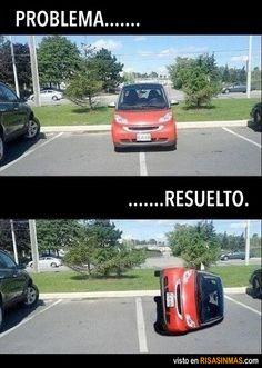 Problema resuelto, ¡solamente si no es MI coche!
