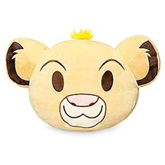 Simba Emoji Pillow | Disney Store Just can't wait to be comfy-cozy? Embrace the Circle of Life with our dual-sided Simba emoji pillow and let softness reign!