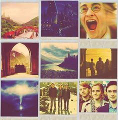 All the last scenes of Harry Potter movies