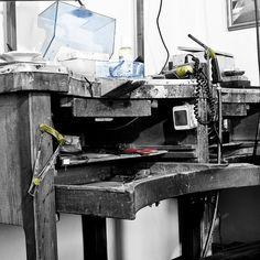 work table by Barbara Taramasso _ contemporary jewellery, via Flickr