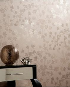Graham & Brown - Sparkle Wallpaper - modern - wallpaper - - by LOVE for Master bath! Sparkle Wallpaper, Beige Wallpaper, Home Wallpaper, Living Room Wallpaper Accent Wall, Classy Wallpaper, Bathroom Wallpaper, Print Wallpaper, New Living Room, My New Room