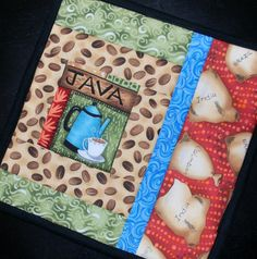 Pot holder mug rug snack mat Java Jive set of two by MonkeyMuffin, $15.00