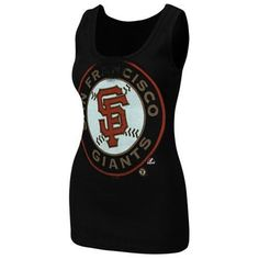 Majestic San Francisco Giants Ladies Must Win Tank Top - Black