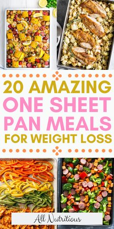 If you easy recipes, you'll most definitely like sheet pan meals - they're easy to make, healthy and nutritious. Try these healthy sheet pan recipes and eat healthy! # Easy Recipes healthy 20 Amazing One Sheet Pan Meals for Weight Loss Easy Meal Prep, Easy Healthy Dinners, Healthy Foods To Eat, Easy Healthy Recipes, Easy Dinner Recipes, Healthy Family Meals, Easy Dinner Meals Healthy, Clean Dinners, Health Recipes