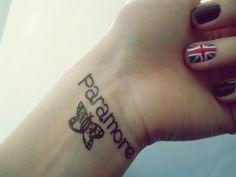paramore tattoos england, oh shit, paramore, paramore tattoo, tattoo - inspiring ...