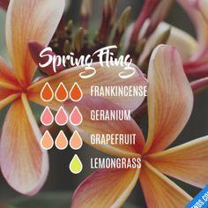 Spring Fling - frankincense, geranium, grapefruit, lemongrass