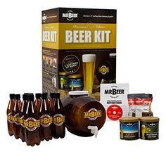 My brother really wants to start making his own beers but has absolutely 0 experience. Would this be a good kit for a beginner? I was thinking of getting it for a Christmas gift. making for beginners homebrew recipes Beer Making Kits, Wine Making, Home Brew Supplies, Craft Supplies, Craft Beer Gifts, Silent Auction Baskets, Beer Brewing Kits, Homebrew Recipes, Brewing Equipment