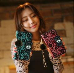 The new retro chic case for your Smartphone that all the young Korean girls and ladies are crazy about has just come out here, in Korea and we are pleased to offer them to the world!See Through Bloom Retro Classy Wallet Case for iPhone 6is not only amazingly designed but also terrifically protective and functional.