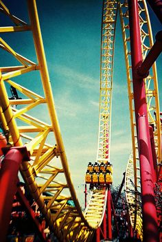 Yellow roller coaster.
