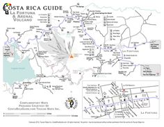 Detailed printable map of La Fortuna and the Arenal Volcano/Lake region National Parks Map, Volcano National Park, Monuments, Map Crafts, Honeymoon Spots, Printable Maps, Costa Rica Travel, Travel Maps, Trip Planning