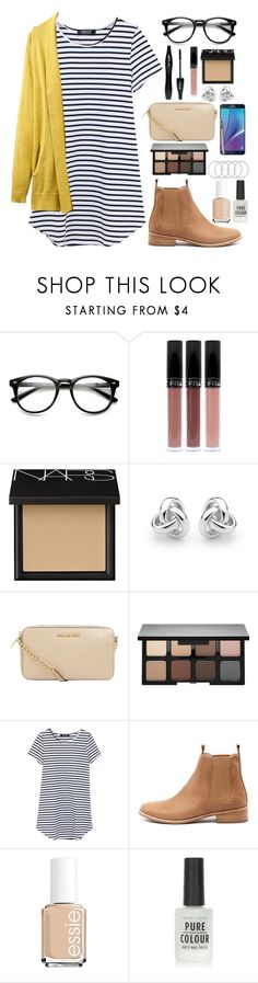 """""""acoustic."""" by bluemoon945 ❤ liked on Polyvore featuring Lancôme, NARS Cosmetics, Georgini, MICHAEL Michael Kors, Samsung, Smashbox, Mollini, Essie, New Look and Joules"""
