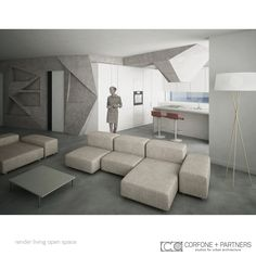 CORFONE+PARTNERS -  Interior design Living Room - P1 HOUSE