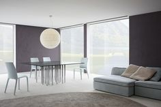This table seems to have all the harmony and dynamism of a transparent body in motion. Mille is a fixed table with a transparent glass table top, available in Oval Table, Square Tables, Design Tisch, Glass Table, Upholstered Chairs, Elegant, Simple Designs, Modern Design, Living Room