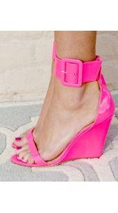 Barbie Girl Wedges (Neon Pink) -FINAL SALE