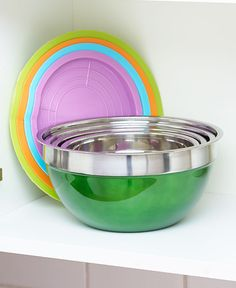 8-Pc. Colorful Stainless Steel Bowl Set | LTD Commodities