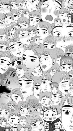 Manhwa Manga, Anime Manga, Anime Art, Anime People, Anime Guys, Bl Comics, Manga Hair, Manga Cute, 19 Days