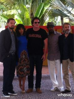 Kerry Washington, Jamie Foxx and the cast of 'Django Unchained' on the Cancun set.