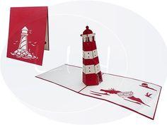 Pop up Karte, Leuchtturm (Variante 2)