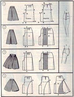 Sewing model DIY long skirt pants