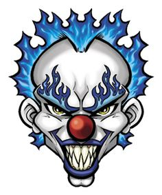 Scary Clown Drawing, Creepy Clown Makeup, Scary Drawings, Evil Clown Tattoos, Scary Tattoos, Icp Tattoos, Skull Tattoos, Animal Tattoos, Evil Clowns