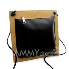 $10.93 Fashionable Women's Crossbody Bag With Color Matching and PU Leather Design