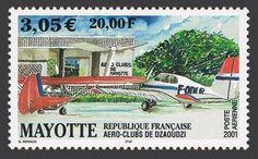 Mayotte-C5-MNH-Dzaoudzi-Aero-Club-2001
