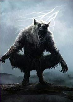 Werewolf Rain 1 by on DeviantArt Creatures Of The Night, Magical Creatures, Fantasy Creatures, Dark Fantasy Art, Dark Art, Werewolf Art, Werewolf Games, Vampires And Werewolves, World Of Darkness