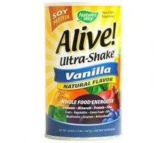 Nature's Way Alive!  Soy Protein Ultra-Shake Vanilla 21 oz