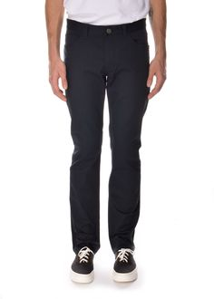 Theory - Spring Summer 2015 - Menswear // Navy stretch trousers in cotton