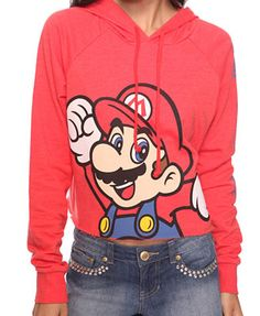 geek, style, cloth, super mario, hoodi