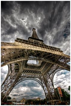 I love this view of the Eiffel Tower.