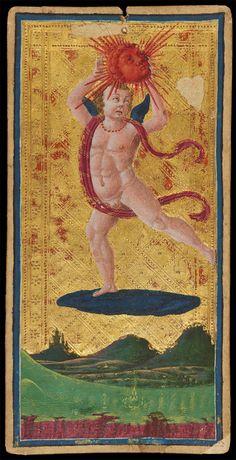 The Sun | Antonio Cicognara for Visconti-Sforza Family | Medieval Tarot Cards | ca. 1480 | card no. 13 | The Morgan Library & Museum