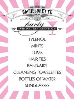 Bachelorette party essentials