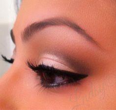 Soft neutral eye makeup