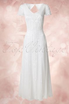 Frock and Frill 20s Phoebie White Embroidery Wedding Dress  108 50 14802 20141231 0012W