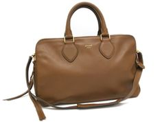 #Sale: was $1,738, now $1,480 ! #CELINE Hand bag Leather Brown(BF045011)