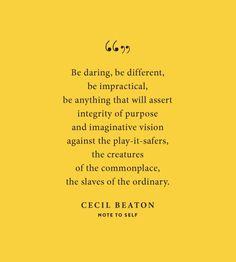 Love this. -Cecil Beaton